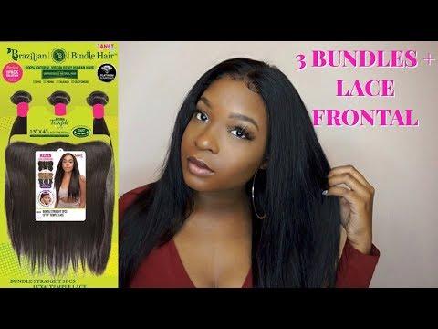 JANET COLLECTION BRAZILIAN BUNDLE HAIR 3 BUNDLES & LACE FRONTAL