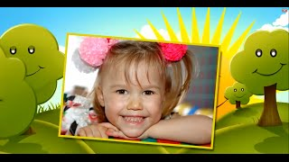 Детское слайд шоу для девочки 3 годика на заказ