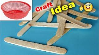 Candy Stick craft ideas 2018 || Handmade Craft Idea || Fruit Basket Craft Idea || DIY Craft at Home