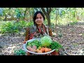 Vegetable Recipe: Bengali Cabbage with Tomatoes Cooking Recipe in Village | Village Food Factory