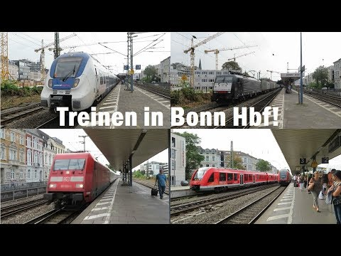 Treinen op station Bonn Hbf! (D)