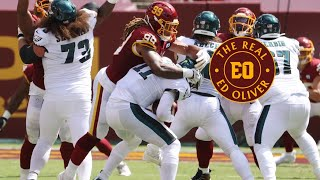 Washington football team cuts dwayne haskins. win & we're in. how we matchup vs eagles