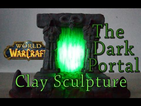 Dark Portal Clay Sculpture (With Lights!)