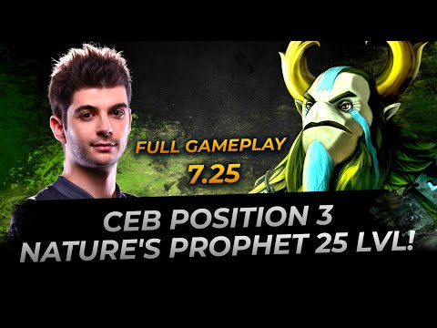 Dota 2: Ceb Is 25 Lvl Nature's Prophet - Player Perspective 7.25