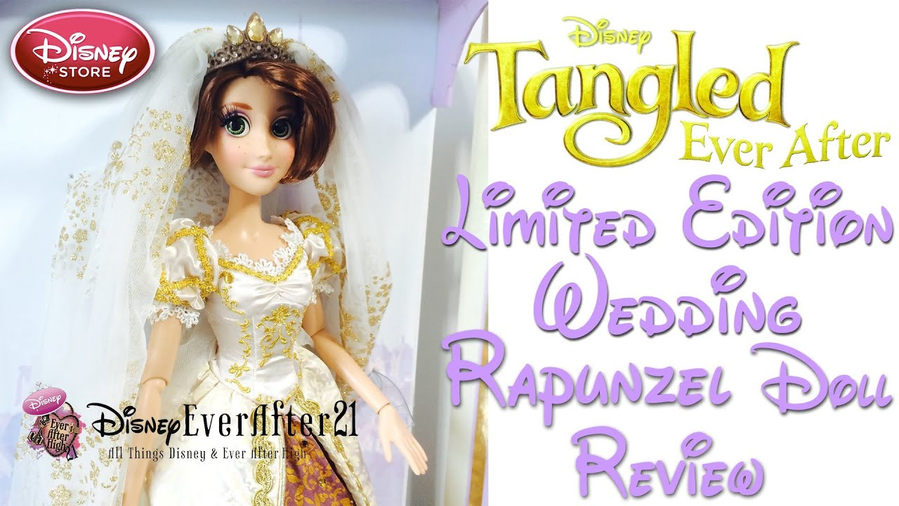 limited edition rapunzel wedding doll review tangled