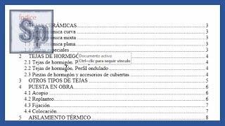 Word - Índice automático en Word, ordenado y vinculado al documento. Tutorial en español HD thumbnail