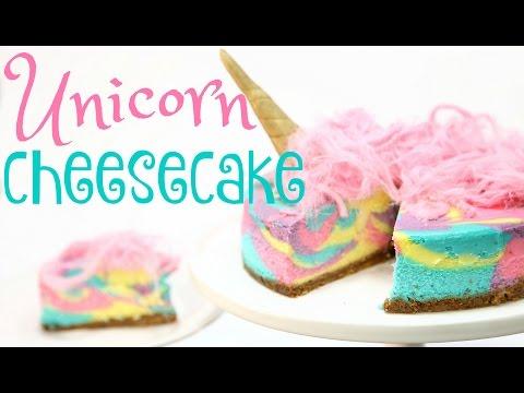 Make RAINBOW Unicorn Cheesecake! - CAKE STYLE Pictures