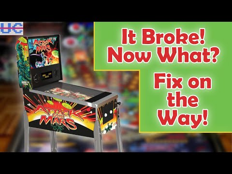 My Attack from Mars Arcade1up Pinball Died BUT It's Not As Bad As It Sounds from Unqualified Critics