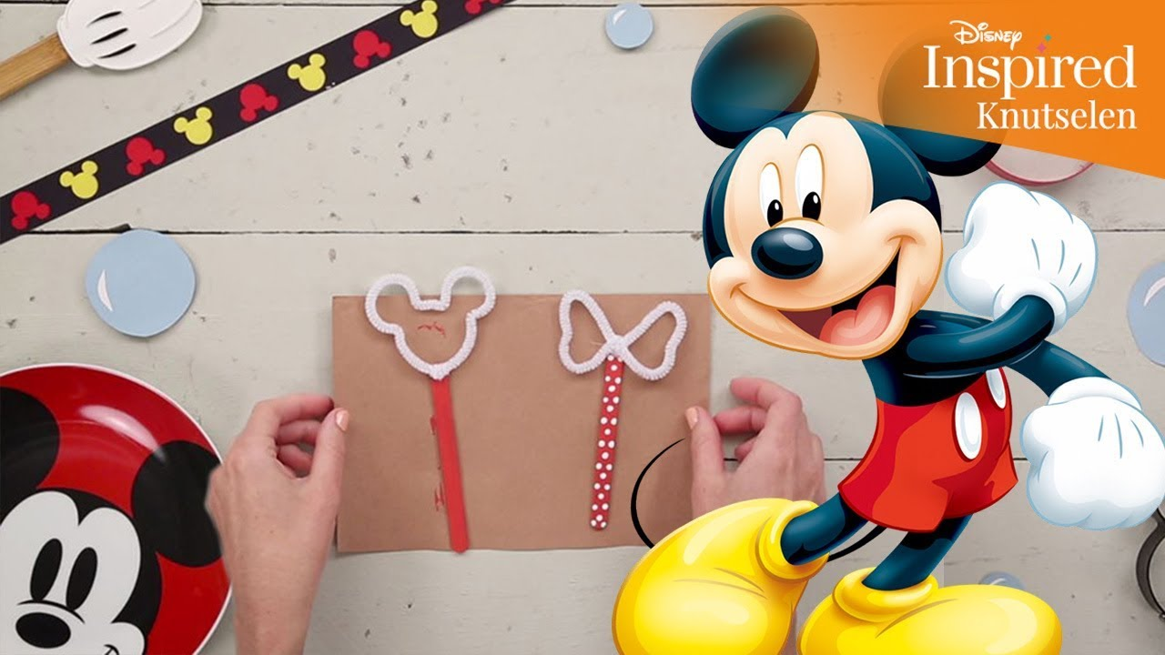 Favoriete Disney Inspired   Knutselen: Mickey & Minnie Bellenblazers  &XM47
