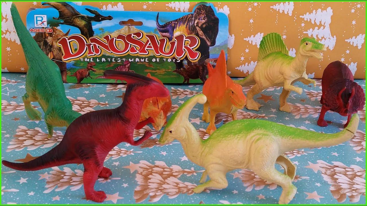 Dinosaurs for Kids Children Toy Dinosaur Fight - YouTube