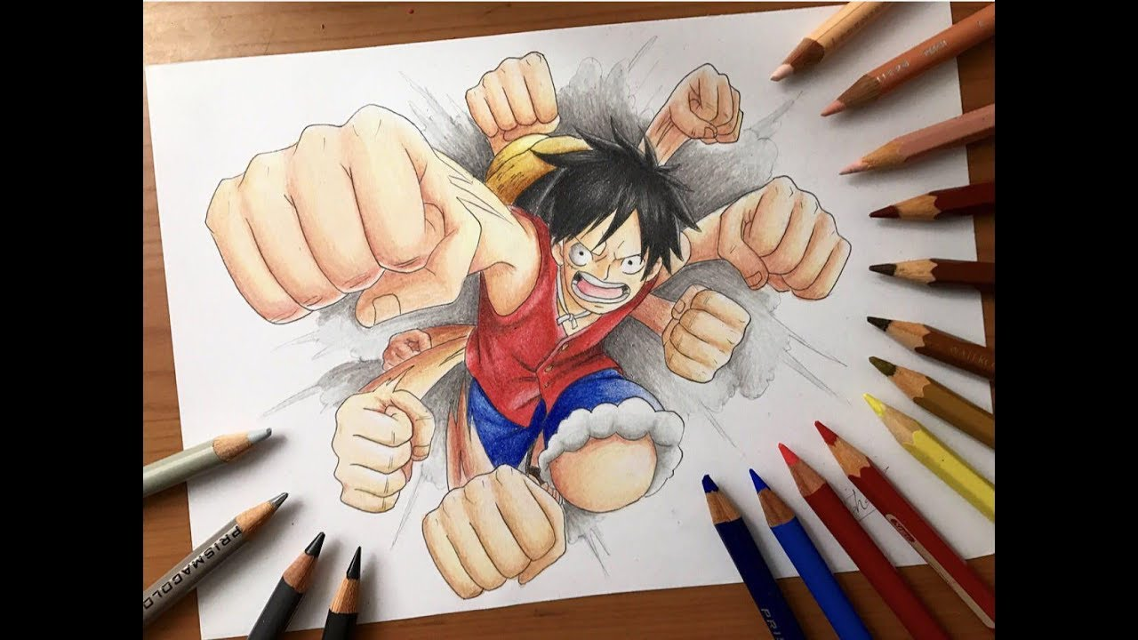 Speed Drawing Monkey D Luffy Punches One Piece Hd
