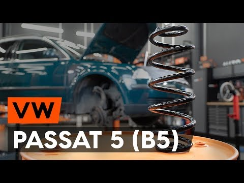 Как заменить пружину передней стойки амортизатора  VW PASSAT 5 (B5) [ВИДЕОУРОК AUTODOC]