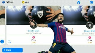BLACK BALL X10 😱😱 WITH 5 ACCOUNT // PES2019 MOBILE