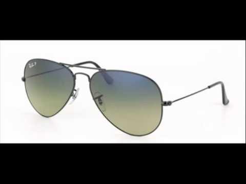 137fb1333b Ray Ban Aviator Crystal Black RB 3025 002 76 Sunglasses - YouTube