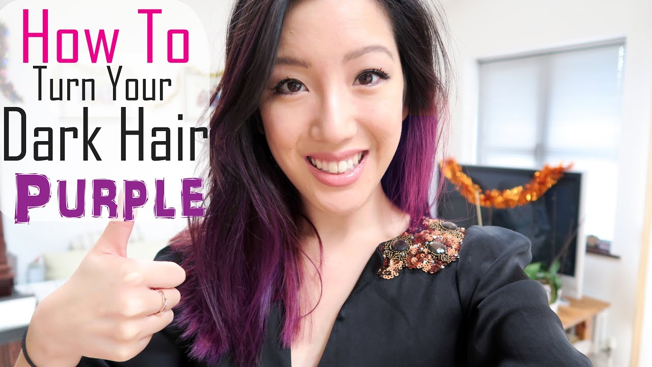 65bb528b653746 How To Dye Dark Hair Purple: DIY Hair Colour Using Schwarzkopf Live XXL