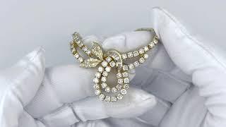 Vidéo: Collier pendentif en or jaune 18 Cts avec 3,50 Cts de Diamants Brillants