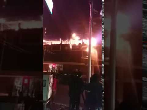 Fire at Akash Institute building at Law College Square