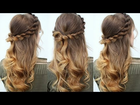 Half Up Half Down Rope twist Hair Idea | Prom Hairstyles | Braidsandstyles12