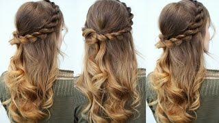 Half Up Half Down Rope twist Hair Idea | Prom Hairstyles | Braidsandstyles12