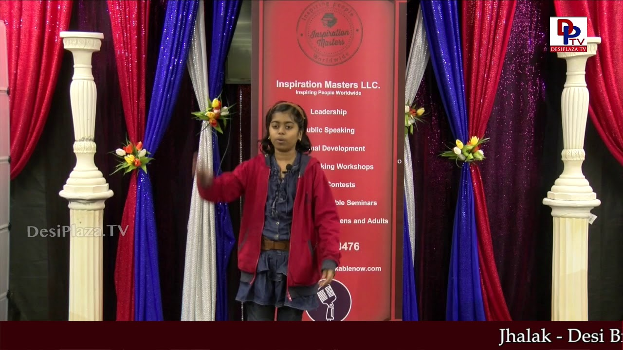 "Roshni tells ""Beauty and the Beast"" story at Talking Bee - Public Speaking Competitions 2018"
