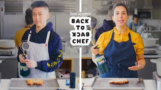 Rich Brian Tries to Keep Up with a Professional Chef  Back-to-Back Chef  Bon Appétit