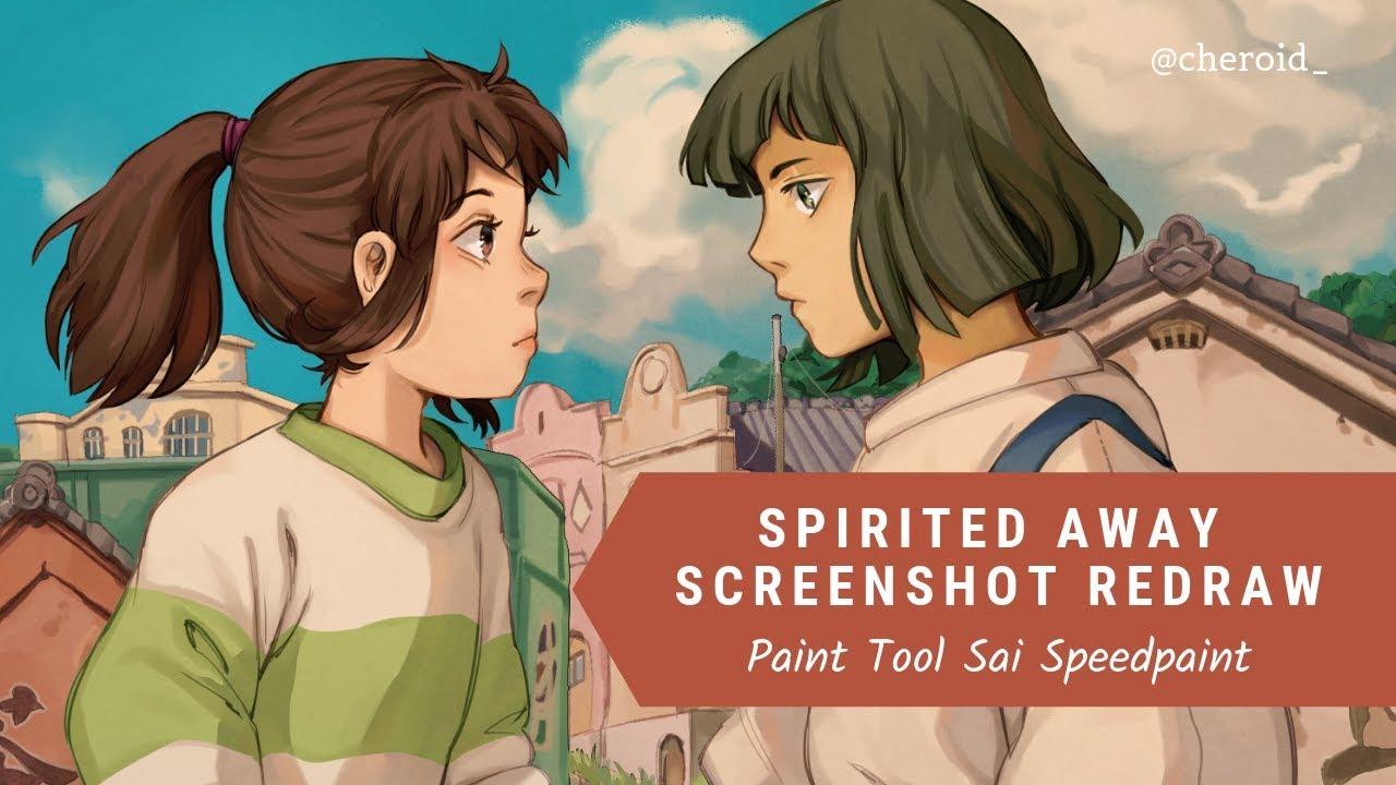 【Paint Tool SAI】 Spirited Away Screenshot Redraw Speedpaint