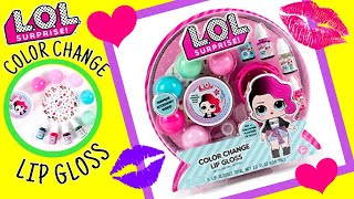 NEW LOL SURPRISE DOLLS - Color Change LIP GLOSS SET! | DIY KIT | So CUTE! Smells AMAZING!!!!!