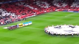 Arsenal vs Bayern Munich 2-0 20.10.15 CL Anthem Fan View