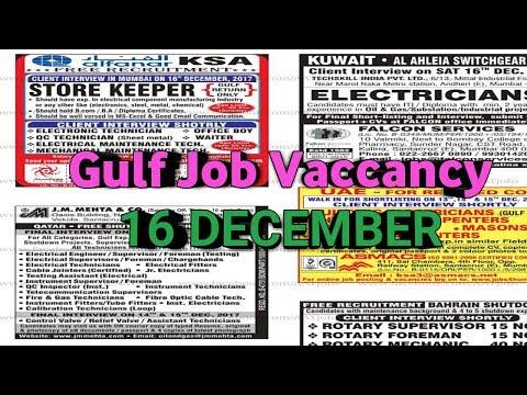 Assignment Abroad Times Job In Dubai, Saudi, Oman, Kuwait, Qatar, Bahrain || 16.12.2017||