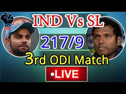 India vs Sri Lanka, Live Cricket Score, 3rd ODI: India restrict Sri Lanka to 217/9 at Pallekele