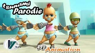 ahmed chawki tsunami parodie official 3d animation version