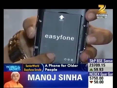 Easyfone - India's Most Senior Friendly Phone is featured on Zee News