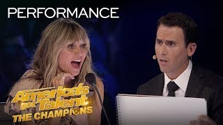 Mentalist Oz Pearlman FREAKS OUT The Judges With Mind Reading! - America's Got Talent: The Champions