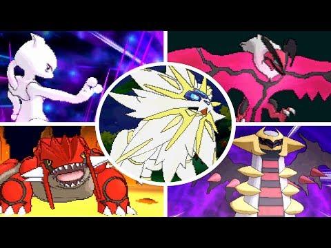 Pokémon Ultra Sun & Ultra Moon - All Legendary Pokémon + Signature Moves