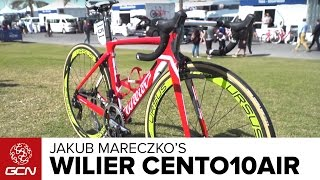 Jakub Mareczko's Wilier Cento10AIR Pro Bike(We take a close look at the Wilier Cento10AIR bike belonging to Jakub Mareczko of the Italian Wilier Triestina Pro Continental Cycling Team. Subscribe to GCN: ..., 2017-03-04T17:00:02.000Z)
