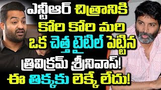 NTR,Trivikram Film As On Silent Mode | Celebrity News | Telugu Boxoffice