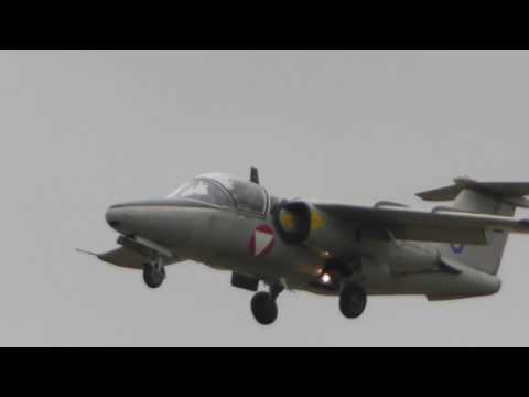 Austrian air force Saab 105OE jet  Display RIAT Air Show Fairford 2017 15jul17 108p
