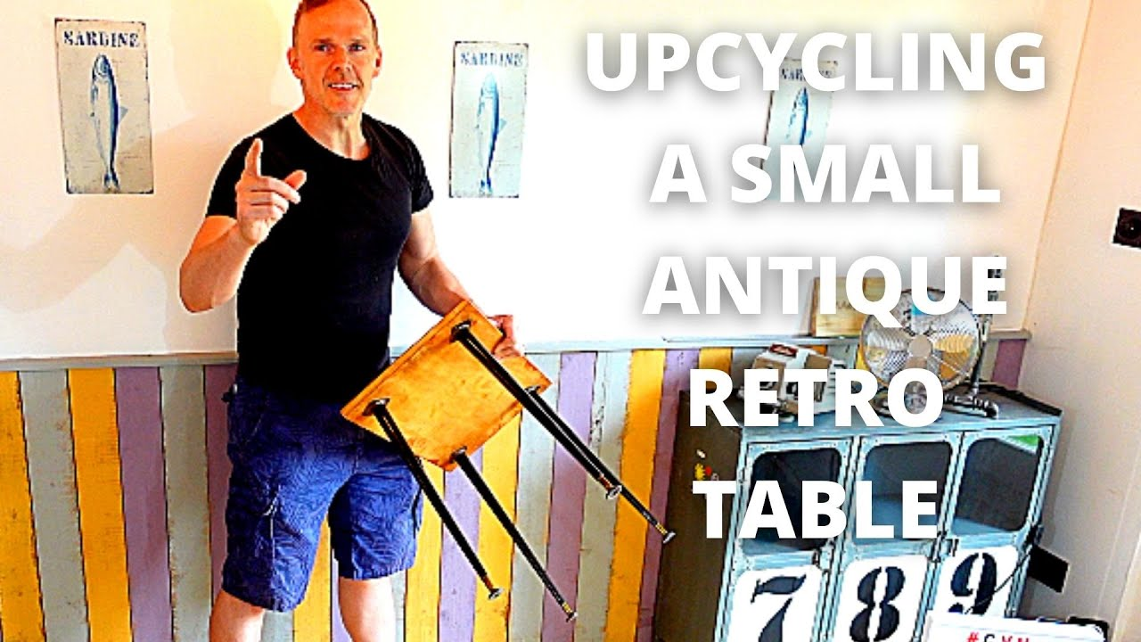 UPCYCLING A SMALL RETRO ANTIQUE TABLE