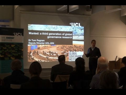 Joint UCL-Energy, UCL Institute of Sustainable Resources and UCL Global Governance Institute