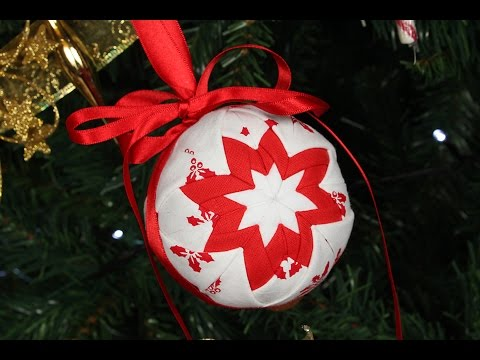 Quilted Christmas Ornament - No Sew Christmas Decoration / Bauble ...