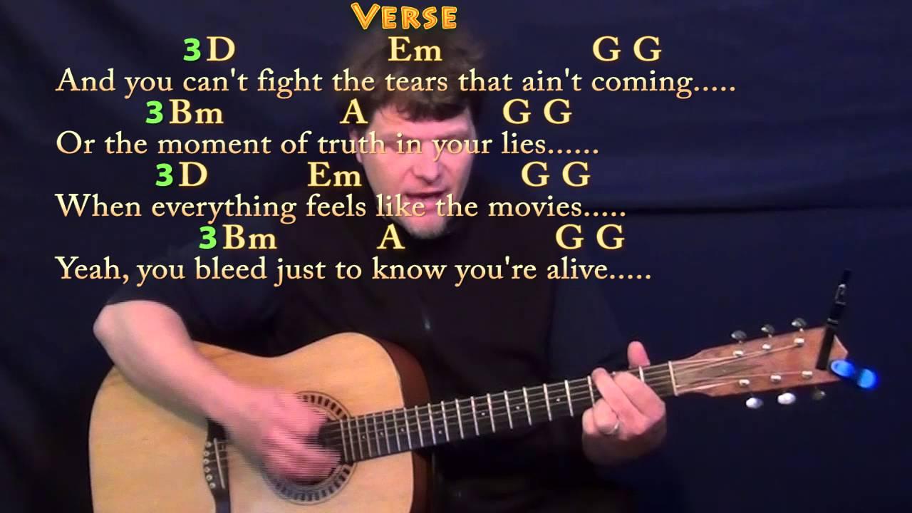 Iris Goo Goo Dolls Guitar Cover Lesson With Chordslyrics Youtube