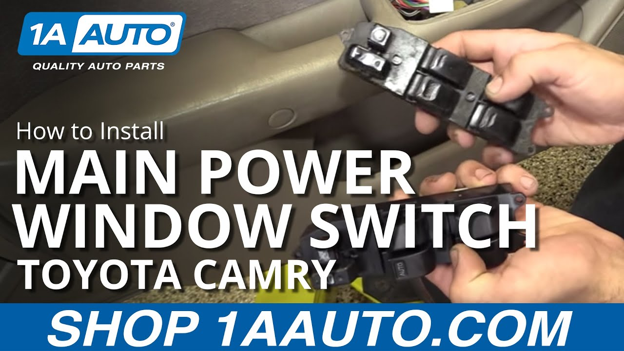 How To Replace Install Power Window Switch 97 01 Toyota Camry Youtube Relay