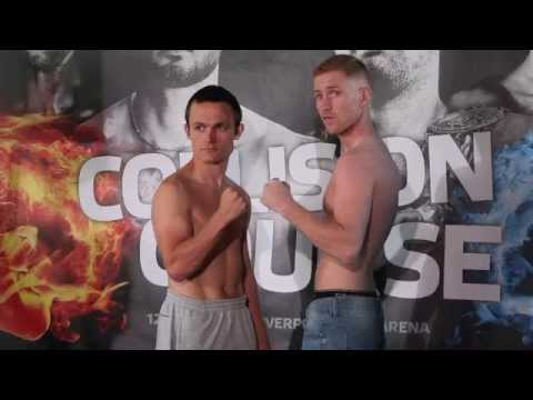 JOHN QUIGLEY v IAN BAILEY - OFFICIAL WEIGH-IN (LIVERPOOL) - COLLISION COURSE