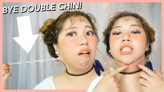 Testing DOUBLE CHIN TAPE for that snatched V-LINE girl!