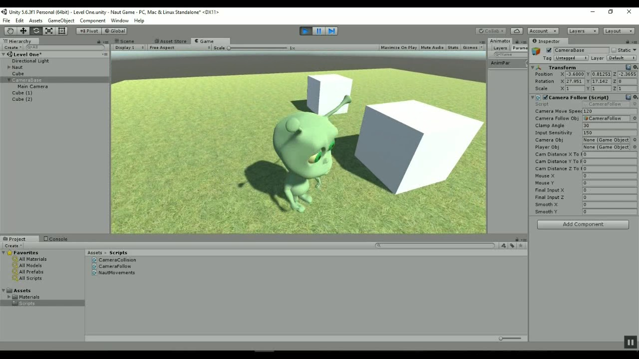 Unity Game Development Decent Camera With Collision