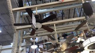 Ceiling fan display at Home Depot