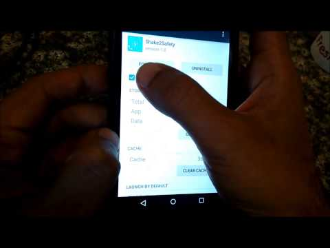 Shake2Safety Android app demo video