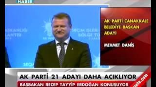 2014 AK Parti Çanakkale Belediye Başkan Adayı Mehmet Daniş