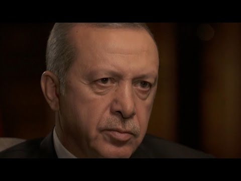 "Turkish President Erdogan sits down with ""60 Minutes"""