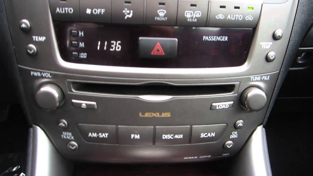 2008 Lexus IS350 Black STOCK Interior